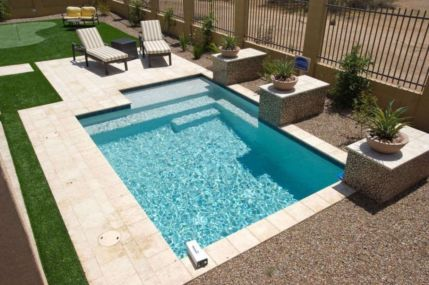 Beautiful small outdoor inground pools design ideas 04