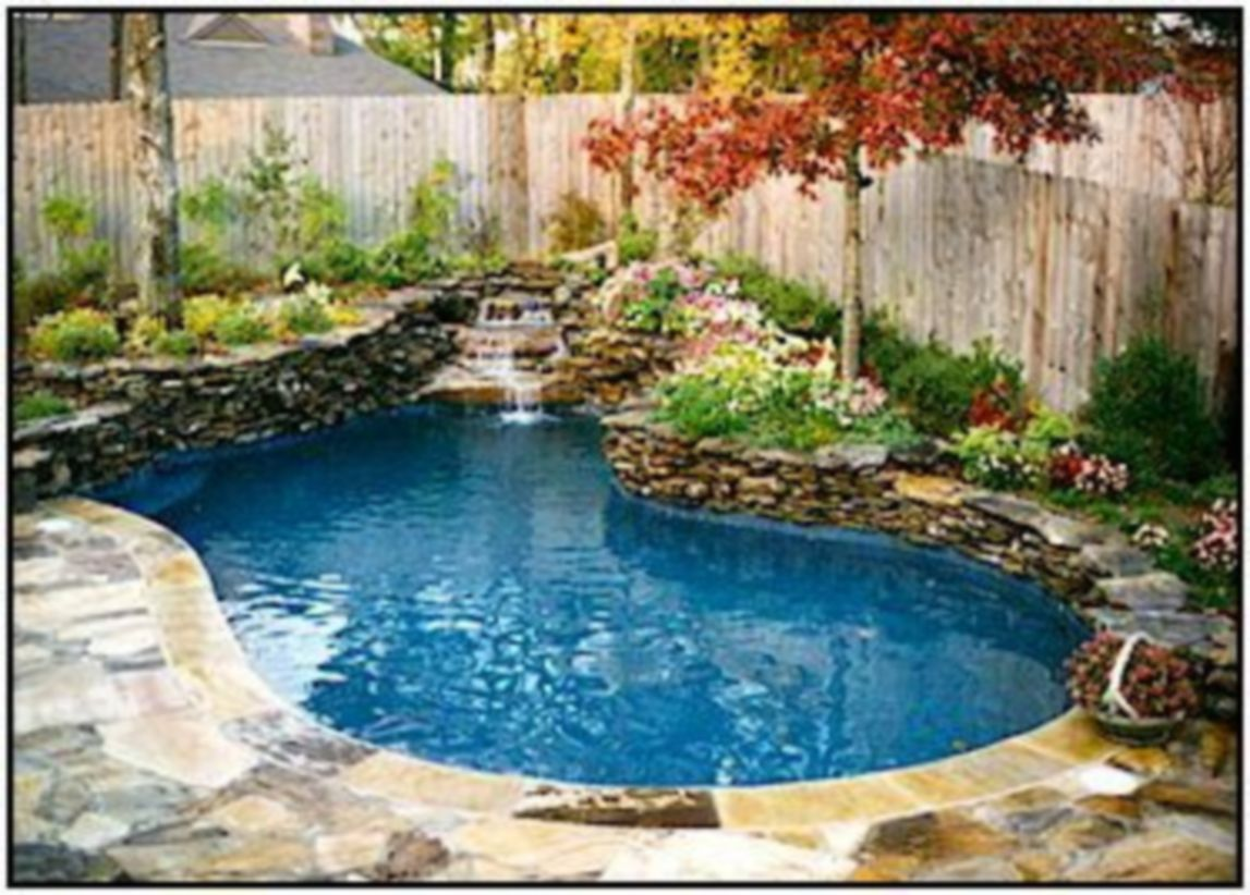 Beautiful small outdoor inground pools design ideas 05