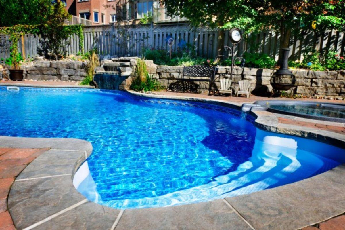 Beautiful small outdoor inground pools design ideas 06
