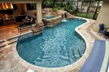 Beautiful small outdoor inground pools design ideas 15