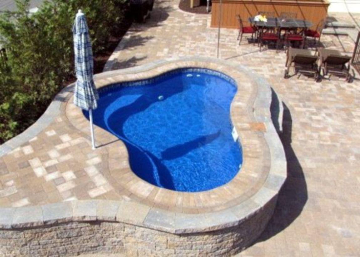 Beautiful small outdoor inground pools design ideas 18