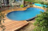 Beautiful small outdoor inground pools design ideas 24