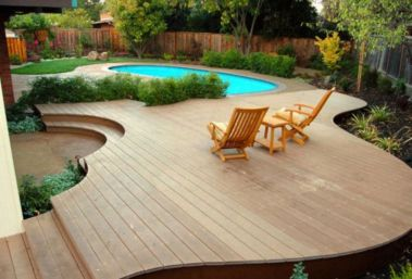 Beautiful small outdoor inground pools design ideas 27