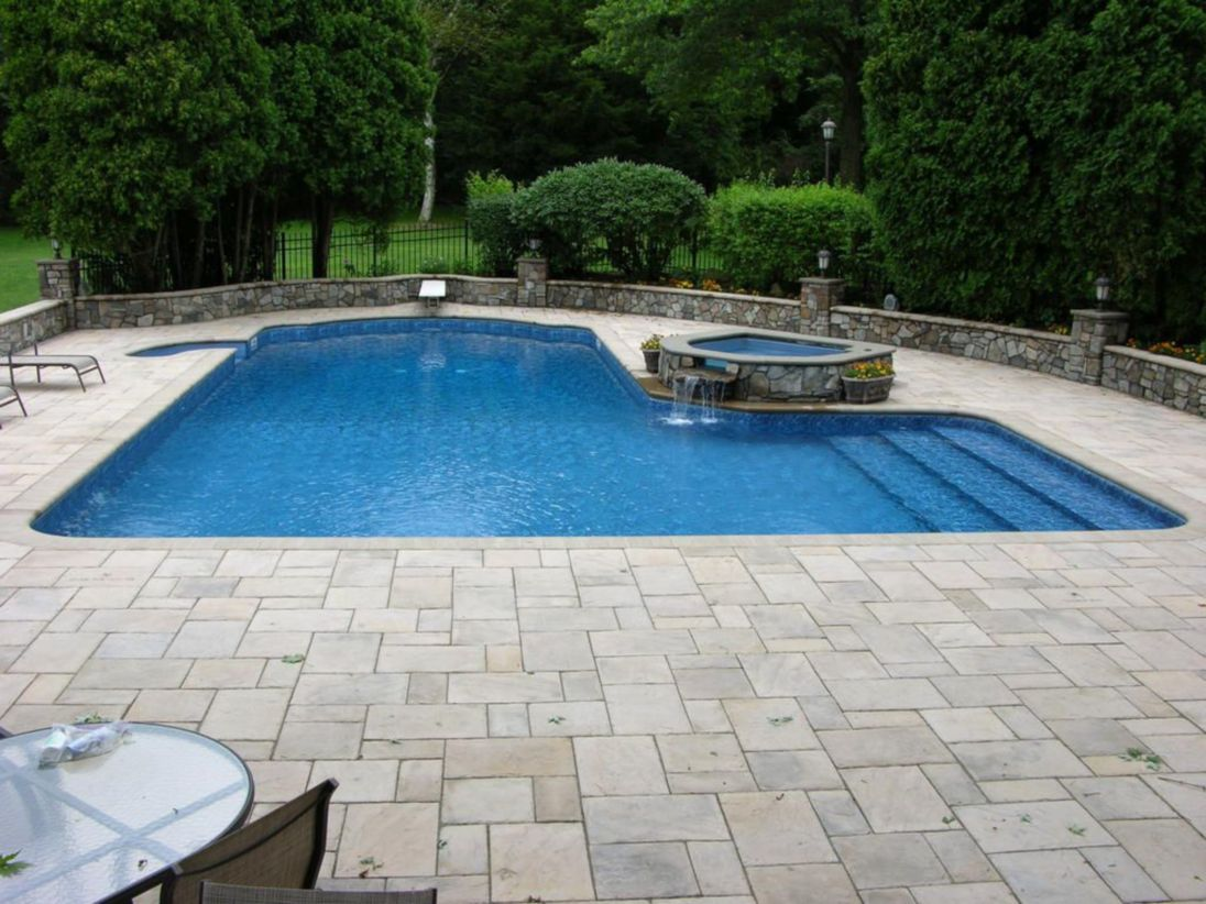 Beautiful small outdoor inground pools design ideas 35