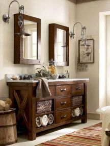 Beautiful urban farmhouse master bathroom remodel ideas (39)