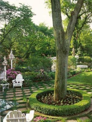 Best and beautiful tree ring planter ideas 02