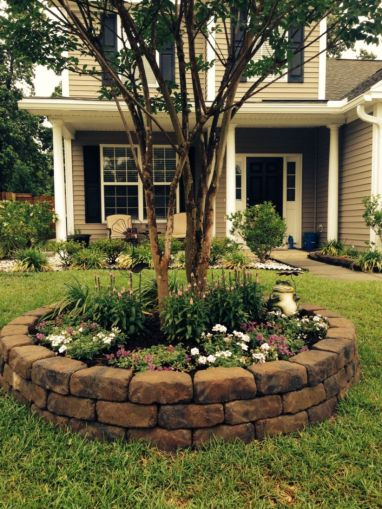 Best and beautiful tree ring planter ideas 39