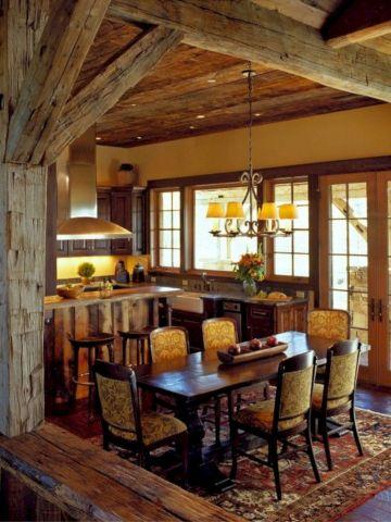Contemporary italian rustic home décor ideas 17