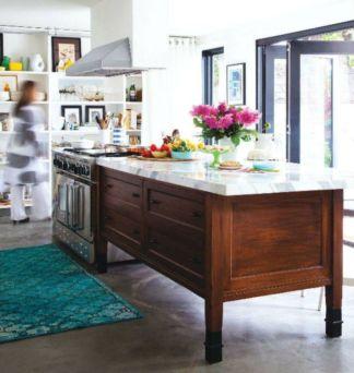 Creative kitchen islands stove top makeover ideas (11)