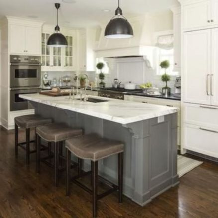 Creative kitchen islands stove top makeover ideas (17)