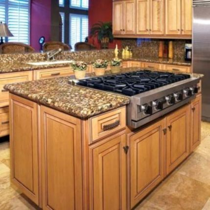 Creative kitchen islands stove top makeover ideas (3)