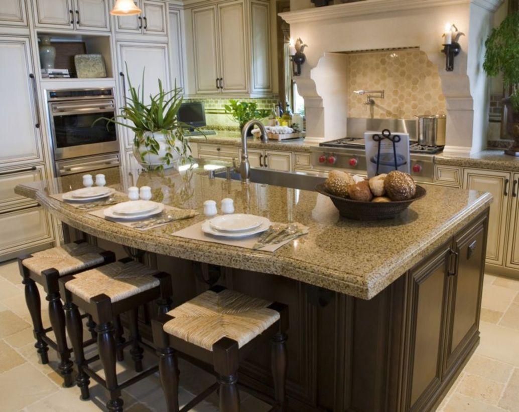 Creative kitchen islands stove top makeover ideas (30 ...