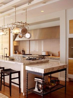 Creative kitchen islands stove top makeover ideas (7)