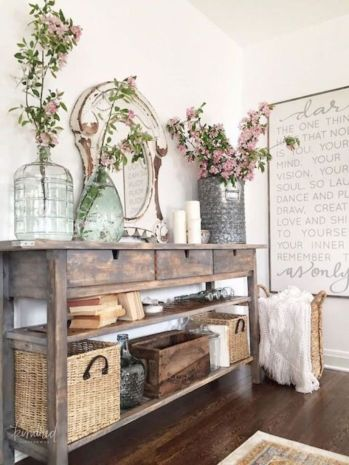 Elegant farmhouse decor ideas for your home (11)