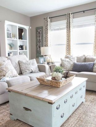 Elegant farmhouse living room design decor ideas (13)