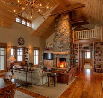 Elegant farmhouse living room design decor ideas (15)