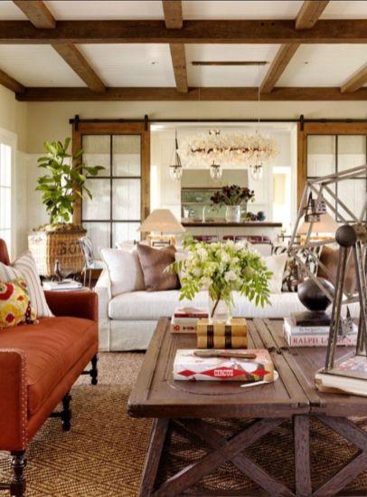 Elegant farmhouse living room design decor ideas (31)