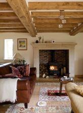 Elegant farmhouse living room design decor ideas (39)