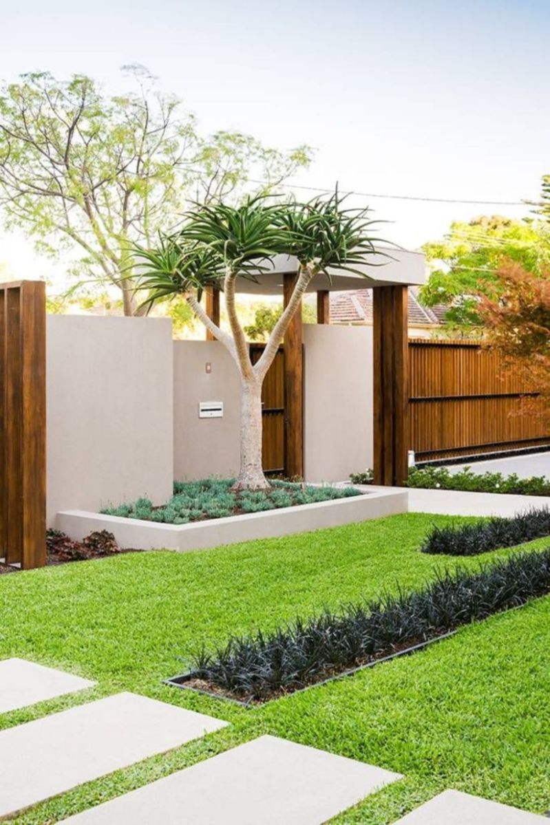 Exclusive and modern minimalist fence design ideas 29