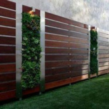 Exclusive and modern minimalist fence design ideas 43