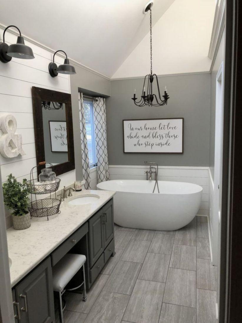 Gorgeous Farmhouse Master Bathroom Decorating Ideas 13 Round Decor