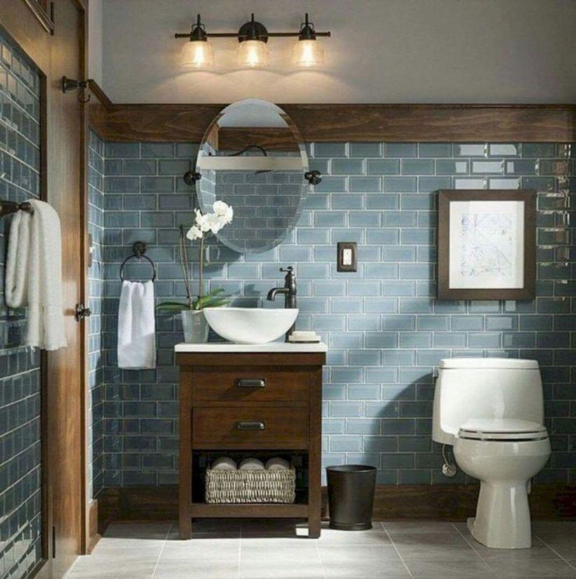45 Gorgeous Farmhouse Master Bathroom Decorating Ideas