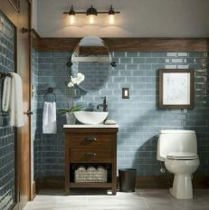 Gorgeous farmhouse master bathroom decorating ideas (23)