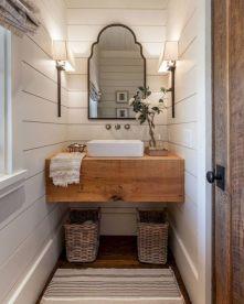 Gorgeous farmhouse master bathroom decorating ideas (40)