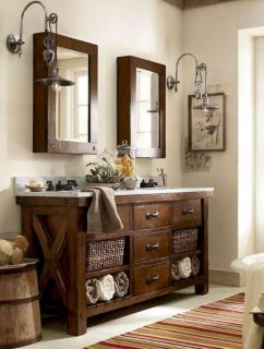 Gorgeous farmhouse master bathroom decorating ideas (7)