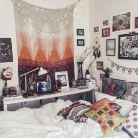 Inspired boho bedroom decorating ideas on a budget 09