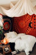 Inspired boho bedroom decorating ideas on a budget 11