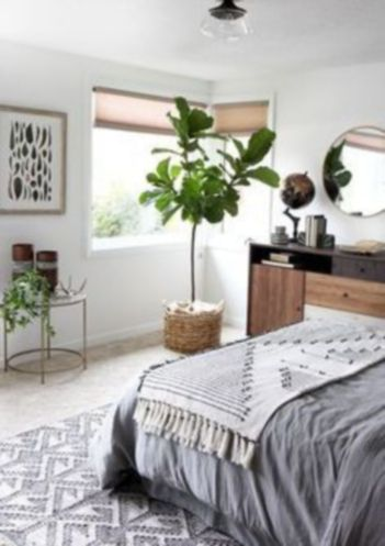 Inspired boho bedroom decorating ideas on a budget 45