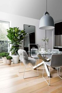 Luxury scandinavian taste dining room ideas (37)