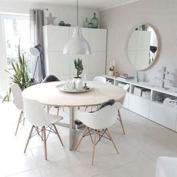 Luxury scandinavian taste dining room ideas (42)