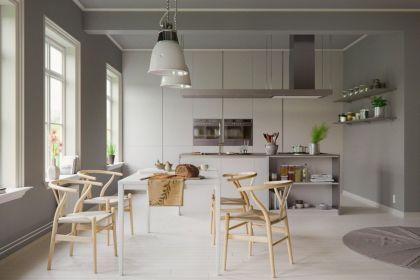 Luxury scandinavian taste dining room ideas (9)