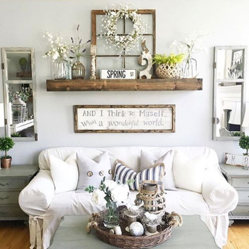 Simply and cozy farmhouse wall decor ideas (12)