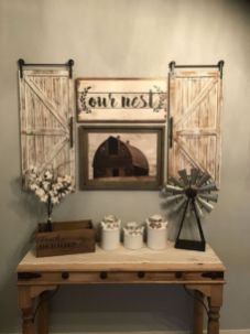 Simply and cozy farmhouse wall decor ideas (42)