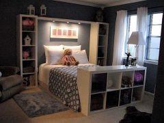 Genius stylish bedroom storage ideas 22