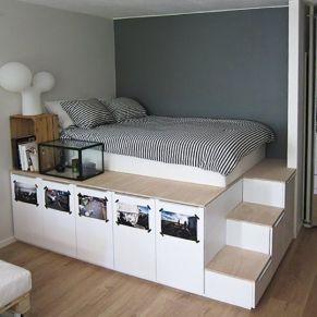 Genius stylish bedroom storage ideas 25