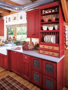 Well passionate red kitchen designs that you must see 02