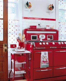 Well passionate red kitchen designs that you must see 07