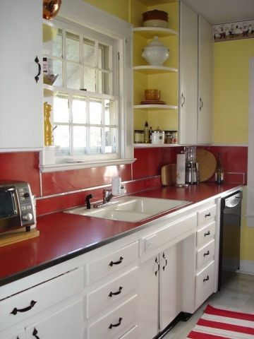 Well passionate red kitchen designs that you must see 09