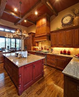 Well passionate red kitchen designs that you must see 11