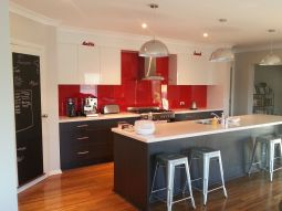 Well passionate red kitchen designs that you must see 13