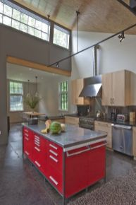 Well passionate red kitchen designs that you must see 16