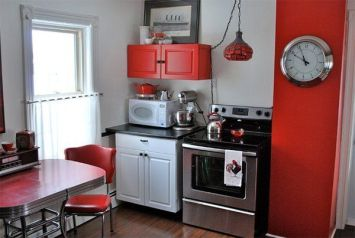 Well passionate red kitchen designs that you must see 17