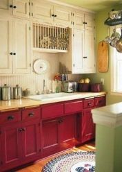 Well passionate red kitchen designs that you must see 32