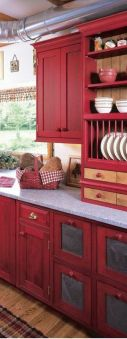 Well passionate red kitchen designs that you must see 38