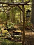 Amazing rustic garden decor ideas 16