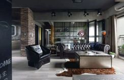 Awesome rustic industrial living room design and decor ideas 07